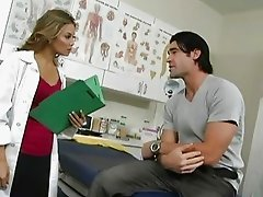 Foxy seductive blonde doctor screwed by one of her patients