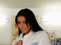 Skinny latina Victoria Rose nurse uniform and big