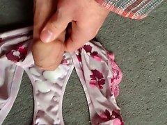 Cumming on a friend's panties