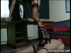 Kinky and weird dark head slut tied dude part5