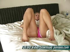 Brianna Blonde By Coming Close and Fingering Herself