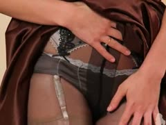 Black pantyhose and ultra hot panties