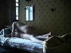 Blonde wife fucks with her man