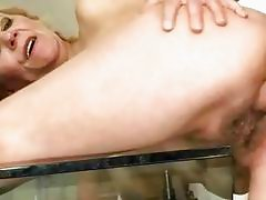 Old bitch enjoys nasty sex with a boy