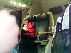Perverted masturbation on Train