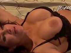 Rough Sex With A Busty Brunette Leaves Her Covered By Cum
