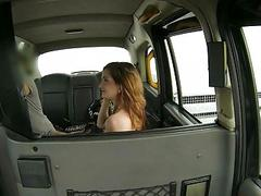 Perky tits babe screwed by fraud driver