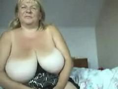 Me 47 yo and  huge naturals on home webcam