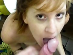 Mamada Restroom Blowjob and Cosmetic Cum in Bathroom - Part