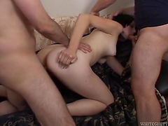 Threesome sex with Tabitha Ann in homemade clip