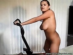Brunette Amateur Exercises Her Pussy