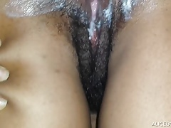 Ebony Peeing and a Queefy Creampie
