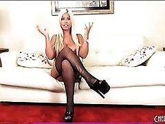 Bridgette B models her new lingerie set