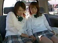 Amazing Japanese slut Minami Aoyama, Misaki Gotoh in Hottest Lesbian, Car JAV scene