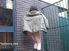Naughty geek Beauvoirs public nudity
