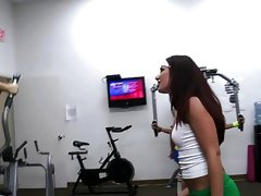 Group of new rushes make out in the gym