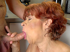 GILF Donatella having hardcore pussy drilling action with Rob