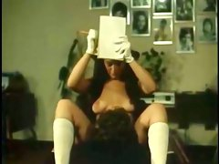 Bad long haired girlie in hat gets her sweet pussy eaten by her hubby