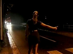 Extreme hot german Milf picked up by night for deep outdoor anal sex