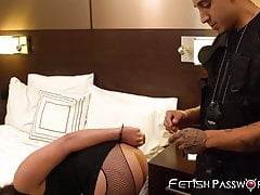 Fishnets clad Whitney Wright receives hammering by big cock