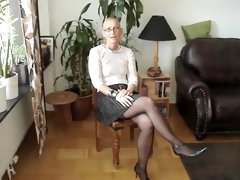 Amazing Homemade video with Strip, Stockings scenes