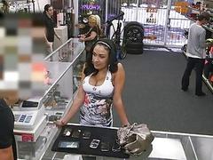 Huge boobs latina a slut for some cash