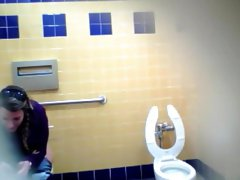Pretty Mexican babe comes to take a piss