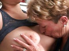 Grannies and Girls Lesbian Fuck Compilation