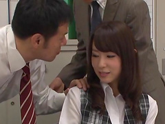 Imai Mayumi seduced by her co-worker for a sex session