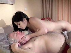 Young Emily Brix full fucked by a senior man