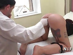 Amateur french emo hard anal plugged by a doctor