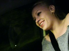 Hitchhiking teen Lola Taylor banged and facialed in the car
