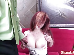 Kinky Hooter Girl Shanda Fay Gives BJ!