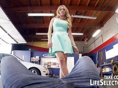 The mighty mechanic fucks sexy, horny babes