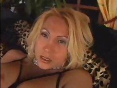 Sexy Blonde Shemale Shoots Huge Load RM