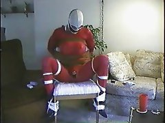 bound dress-up on a chair