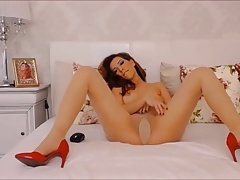 Girl puts on pantyhose in bed 04 (YST)