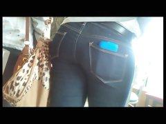 HIDDEN CAM Teen ass jeans with friend touching her ass m145