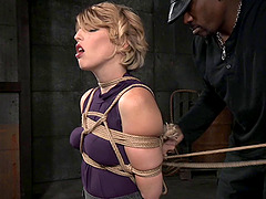 Elegant babe Kay Kardia handles the roughest bondage treatment ever