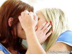 Exotic pornstar in Crazy Redhead, Lesbian porn movie
