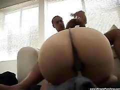 Chubby girl gets to receive him doggy style