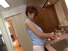Juicy Yummy Gets Fucked Hard Doggystyle In The Kitchen