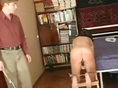 Amazing amateur Brunette, Spanking sex video