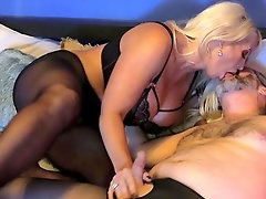 Voluptuous mature gets her hands on a serious cock