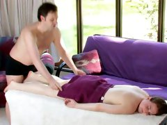 Libidinous client seduces and gets dicked deep by her masseur