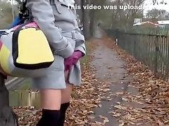 UK-Flashers - Chloe Lovettes public flashing and peeing