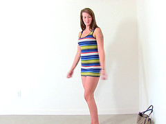Brunette Kaily twerking then punished hardcore in reality scene