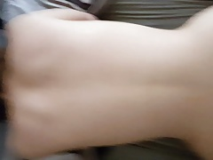 My white curvy fuck buddy on all fours taking my Indian dick