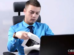 Nikola bent Sheri over his office desk and drilled her hard