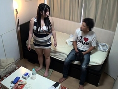 Delightful Japanese girl satisfies her desire for hard meat